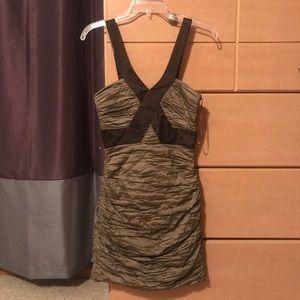 BCBG ruched dress